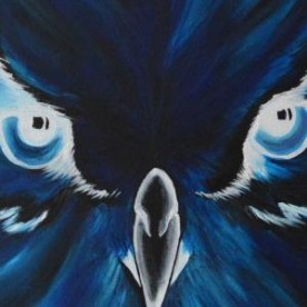 Owl with inverted colors